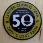 Celebratory waymarker Offa's Dyke 50th anniversary